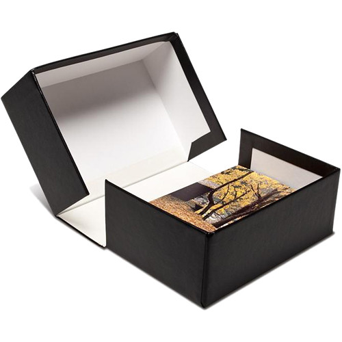 "Print File PBW462 4 x 6"" Clamshell Portfolio Box (Black)"