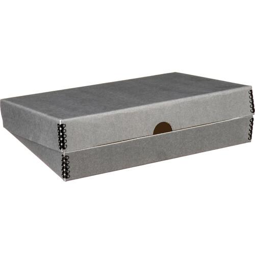 "Print File Clamshell Metal Edge Box (9 x 12"", Gray)"
