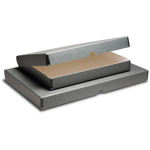 "Print File Clamshell Metal Edge Box (11 x 14"", Gray)"