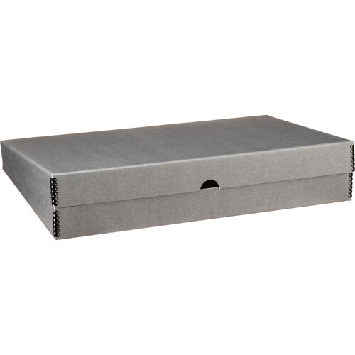 "Print File Clamshell Metal Edge Box (13 x 19"", Gray)"