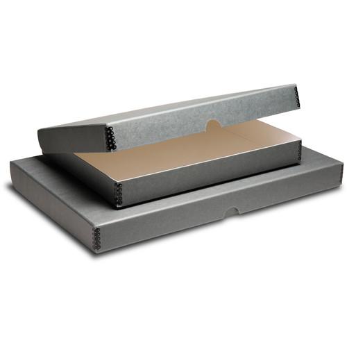 "Print File Clamshell Metal Edge Box (18 x 24"", Gray)"
