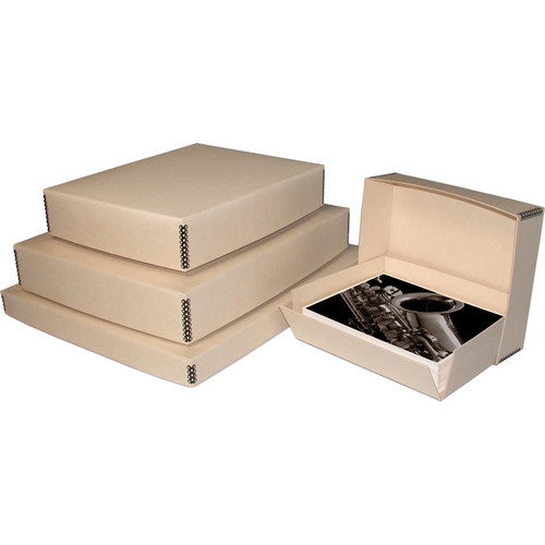 "Print File 20.5 x 24.5 x 3"" Drop-Front Metal Edge Archival Storage Box (Tan)"