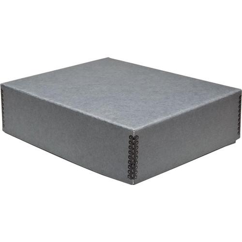 "Print File Drop-Front Metal Edge Archival Storage Box (Gray, 9.5 x 12.5 x 3"")"