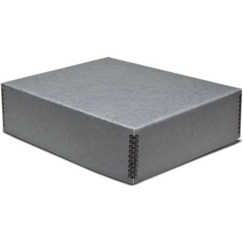 "Print File 11.5 x 14.5 x 3"" Drop-Front Metal Edge Archival Storage Box (Gray)"