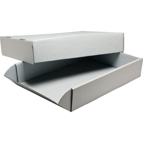 "Print File G31242 24 x 31"" Acrylic-Coated Corrugated Archival Box (Gray)"