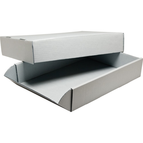 "Print File G31242 24 x 31"" Acrylic-Coated Corrugated Archival Box (Gray)"