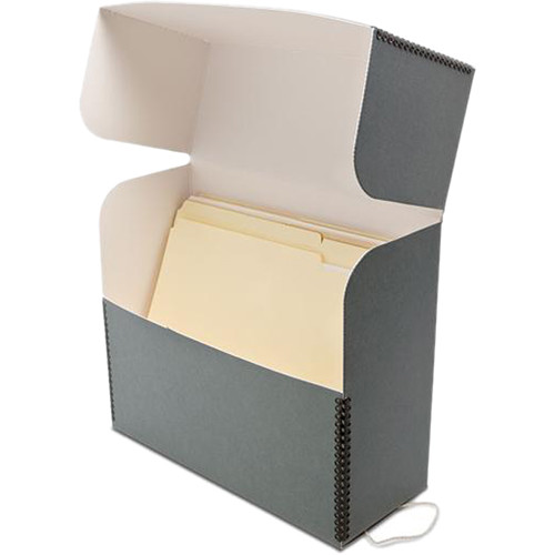 "Print File GDBLETTER Metal Edge Letter Size Document Storage Box (12.25 x 10.25 x 5"", Gray)"