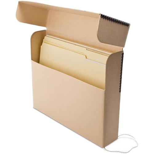 Print File TDBS Letter Size Flip-Top Slim Document Box (Tan)