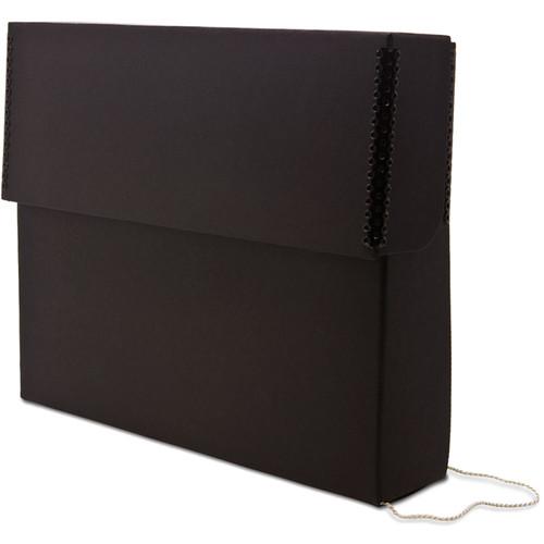 Print File DBS Letter Size Flip-Top Slim Document Box (Black)