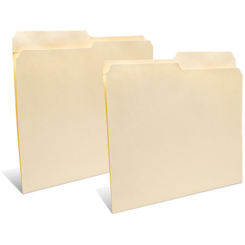 """Print File Letter Size Folder with 1"""" Reinforced Half Tab (Buffered Light Cream, 50-Pack)"""