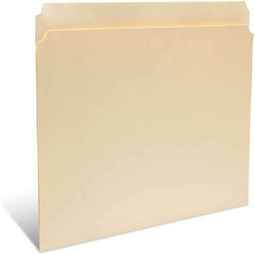 "Print File Legal Size Folder with 1"" Reinforced Full Tab (Buffered Light Cream, 50-Pack)"