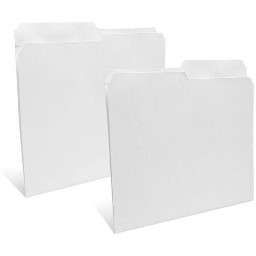 """Print File Letter Size Folder with 1"""" Reinforced Half Tab (Unbuffered White, 50-Pack)"""