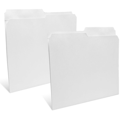 """Print File Legal Size Folder with 1"""" Reinforced Half Tab (Unbuffered White, 50-Pack)"""