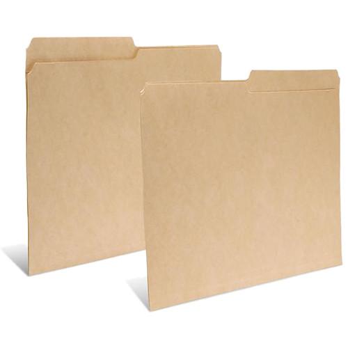 "Print File Legal Size Folder with 1"" Reinforced Half Tab (Buffered Dark Tan, 50-Pack)"