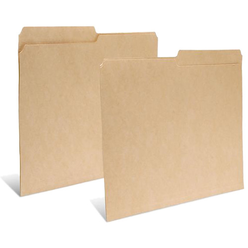 "Print File Legal Size Folder with 1"" Reinforced Half Tab (Buffered Dark Tan, 50-Pack)"