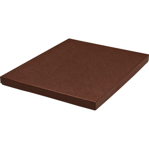 "Print File 8 x 10"" Standard Proof Box (0.5"" Depth, Brown)"