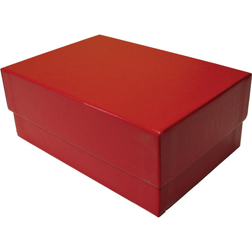 "Print File 4x6"" Proof Box (2.5"" Depth, Red Ribbed)"