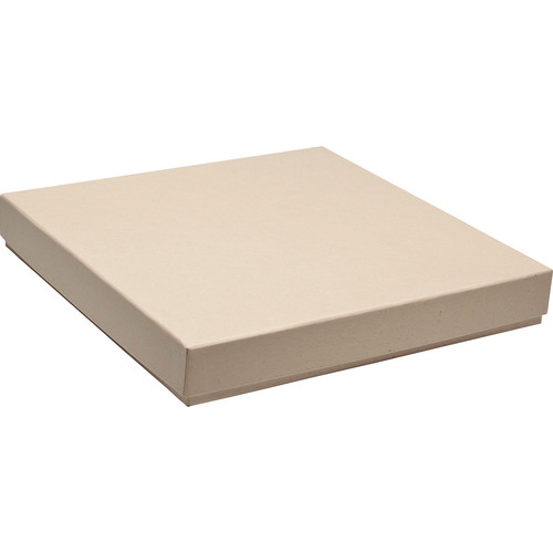 "Print File 10x10"" Press-Printed Square Proof Box (1.5"" Depth, Kraft)"