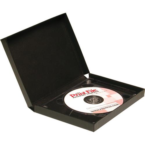 Print File Single CD Clamshell Folios (Black)