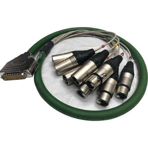 Prism Sound DB25 to XLR AES3 Breakout Cable (4.9')
