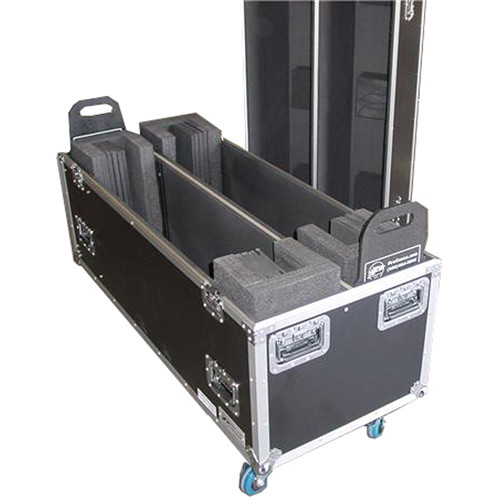 """Pro Cases Dual Universal TV Case with Casters for 60 to 63"""" Displays"""