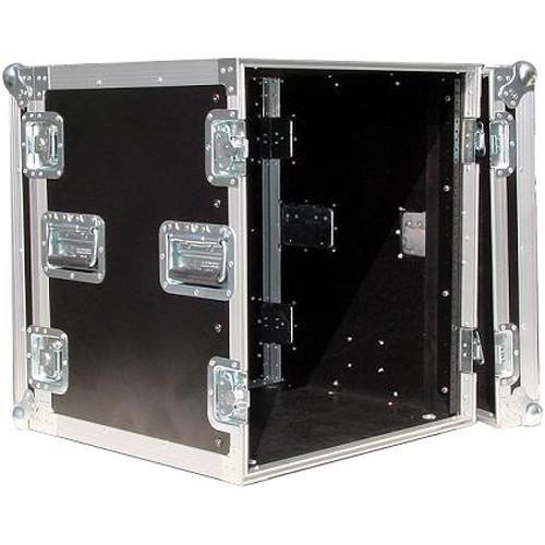 Pro Cases 10U Amp Rack Case / with Casters (Black)
