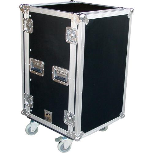 Pro Cases 18U Amp Rack Case / with Casters (Black)
