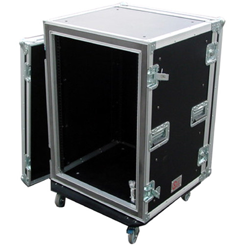 Pro Cases 16U Shock Mountcombo Rack W/ Casters