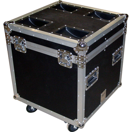 Pro Cases AC-MTP4 ATA Truck Pack Trunk Case with Casters (Black)