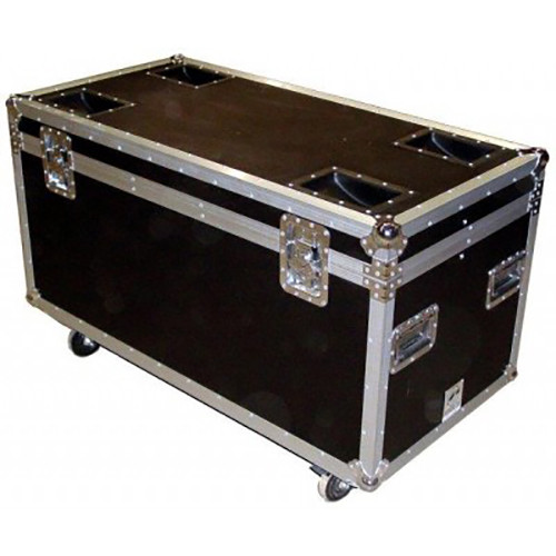 Pro Cases AC-TP2 ATA Truck Pack Trunk Case with Casters (Black)