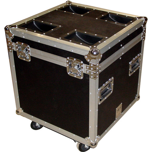 Pro Cases AC-TP4 ATA Truck Pack Trunk Case with Casters (Black)