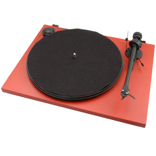 Pro-Ject Audio Systems Essential II Stereo Turntable with USB (Red)