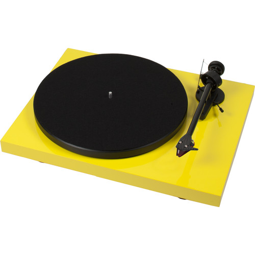 """Pro-Ject Audio Systems Debut Carbon DC Turntable with 8.6"""" Carbon Fiber Tonearm (Yellow)"""