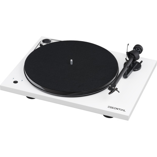 Pro-Ject Audio Systems Essential III Turntable with Speed Box (High-Gloss White)