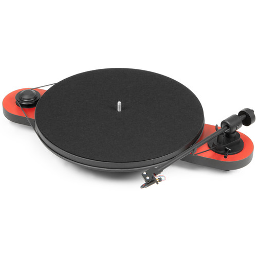 Pro-Ject Audio Systems Elemental Phono USB Turntable (Red & Black)