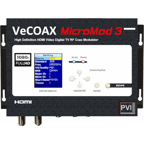 ProVideoInstruments VeCOAX MicroMod-3 HDMI-A/V-CC to RF Modulator