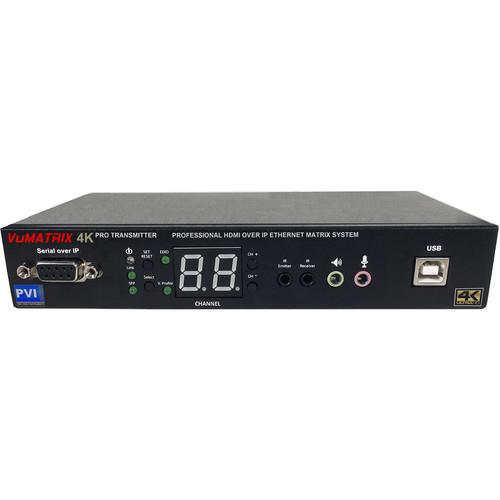 Pro Video Instruments VuMATRIX UHD 4K Transmitter over 1Gigabit IP PRO