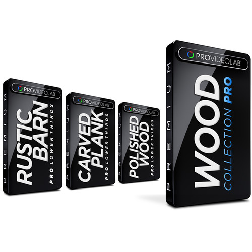 PRO VIDEO LAB Bundled Lower Thirds - Wood Collection Pro (Download)