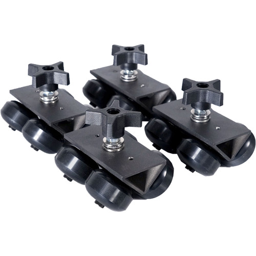 ProAm USA SolidTrax Universal Track Dolly DIY Wheels - Set Of 4 - Works With Modus System