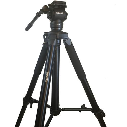 ProAm USA Pro Tripod & Fluid Head Set