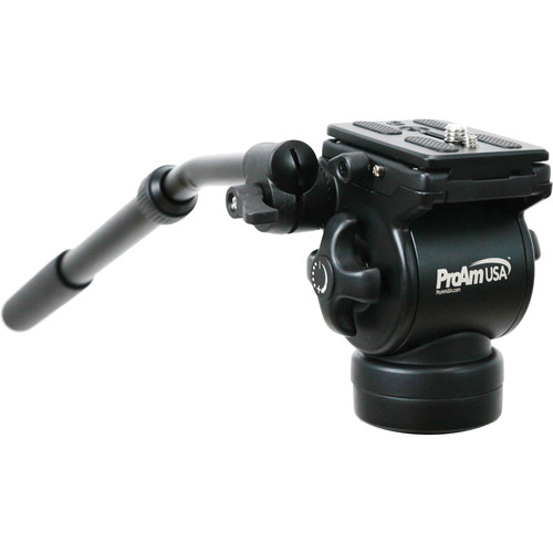 ProAm USA Professional Fluid Tripod Head (Flat Base)
