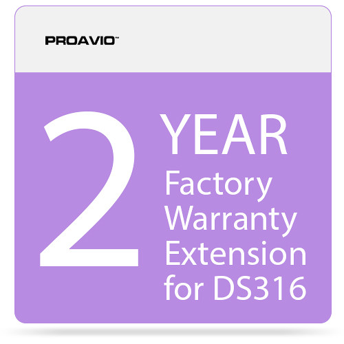 Proavio 2-Year Factory Warranty Extension for the DS316 Series