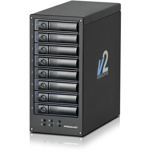 Proavio EB800MS V2 64TB 8-Bay SATA RAID Array with Thunderbolt 2 Controller (8 x 8TB)
