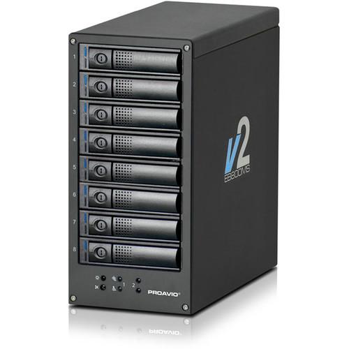 Proavio EB800MS V2 8TB 8-Bay SAS-3 RAID Array with PCIe 3.0 Controller Card (8 x 1TB)
