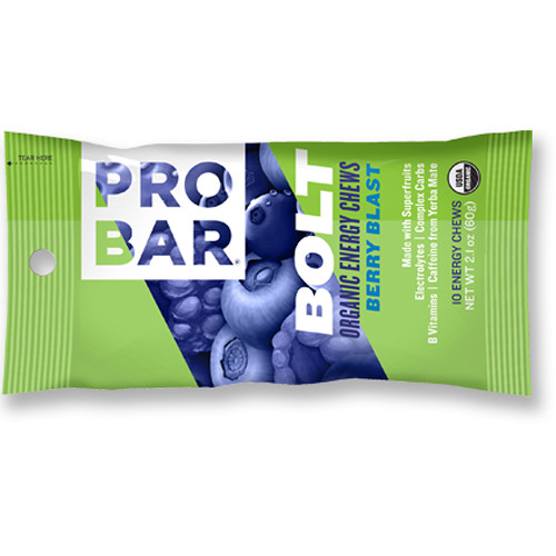 PROBAR Bolt Organic Energy Chews (Berry Blast, 12-Pack)
