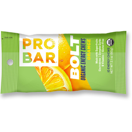 PROBAR Bolt Organic Energy Chews (Orange, 12-Pack)