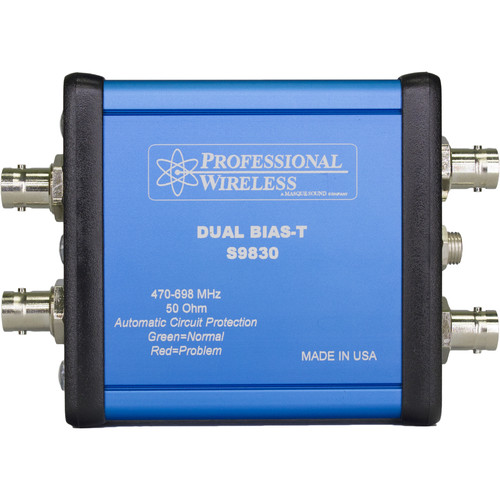 Professional Wireless Systems Dual Bias-T Remote Bias Power Supply for Two Antenna Lines