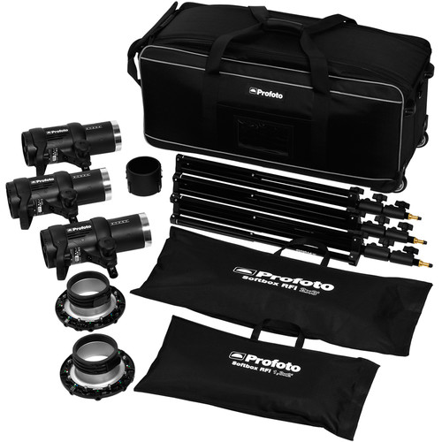 Profoto D1 Air 500/500/1000 3-Light Studio Kit