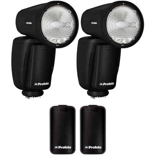 Profoto A1 AirTTL-N Duo Flash Kit with Extra Batteries for Nikon