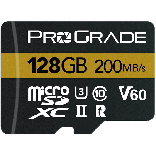 ProGrade Digital 128GB UHS-II microSDXC Memory Card with SD Adapter (2-Pack)